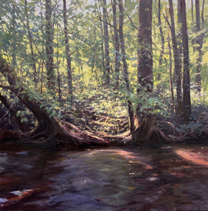 Dappled and Diffused, 30x30, oil