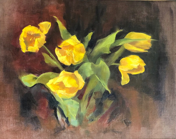 Yellow Tulips, 16x20, oil