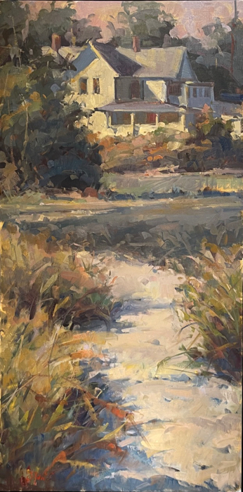 SOLD - Salt Air and Southern Light, 48x24, oil