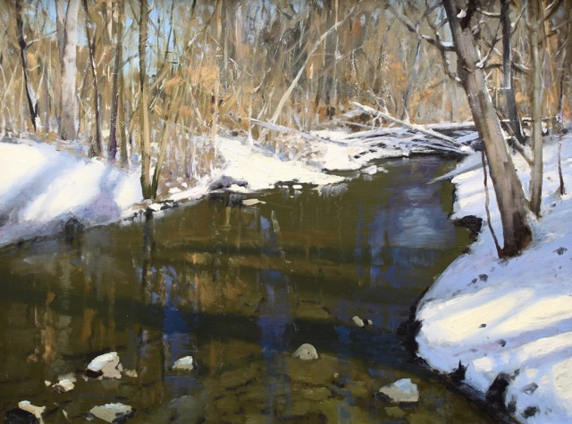 Reflections of Carter's Creek, 30x40, oil