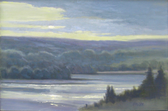 Twilight on the Cumberland River, 24x36, oil