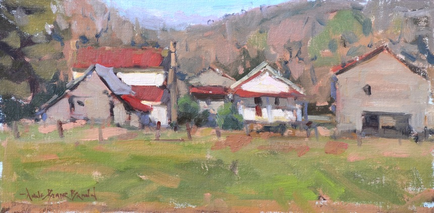 Afternoon In the Valley, 8x16, oil