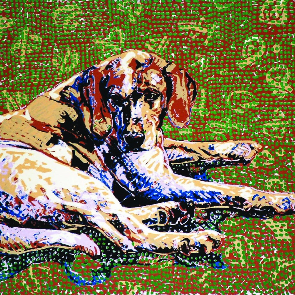 Fraternal Hound Left  • Original Hand-pulled Serigraph