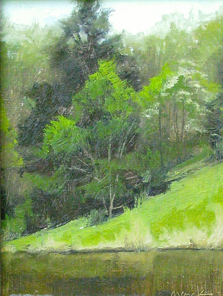 Spring on Newberry Pond, 12x9, oil