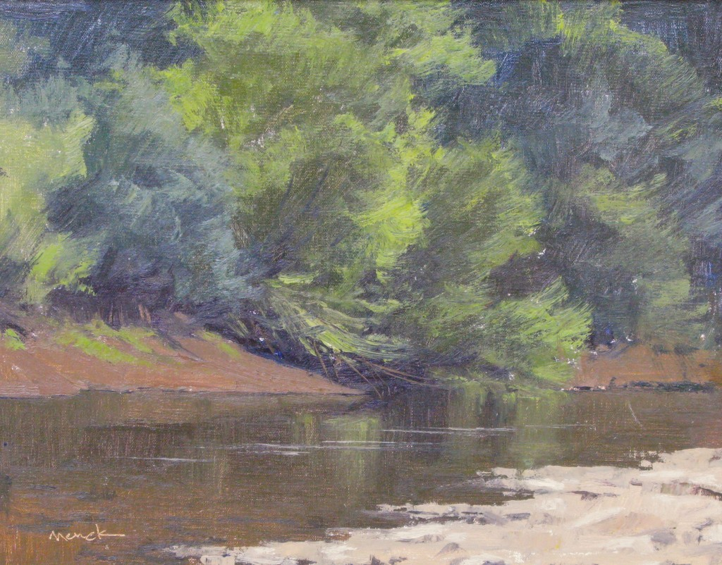 Along Jason's Creek, 11x14, oil