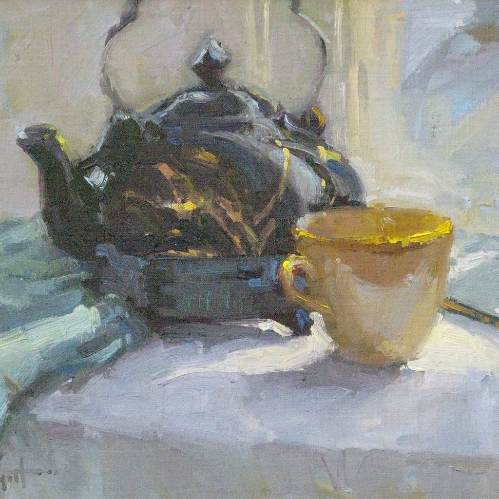 Warm Pot of Tea, 12x16, oil