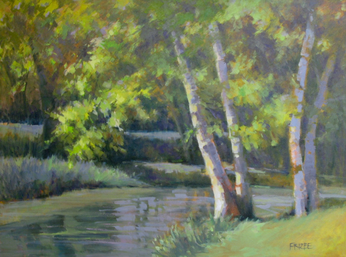 SOLD - Down By the Creek, 36x48, oil