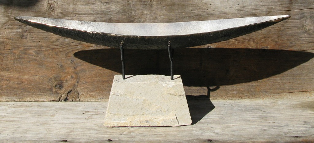 SOLD - Open Boat, bronze with silver grey patina