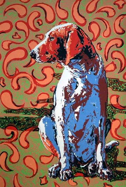 Provincial Hound Left • 17 1/2 x 12   Hand pulle serigraph