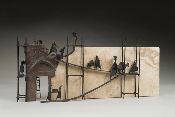 Rebuilding, 24x11x6, bronze, Limited Edition 12