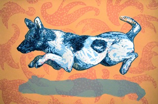 Right Runner, 16 1/2 x 24 1/2, serigraph