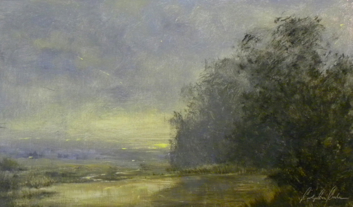 Solace of Evening, 12 x 20, oil on linen