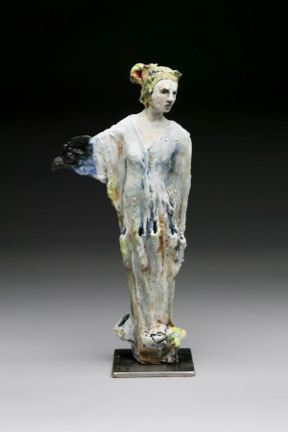 SOLD -- Spirit Bird, 15x8x4, ceramic