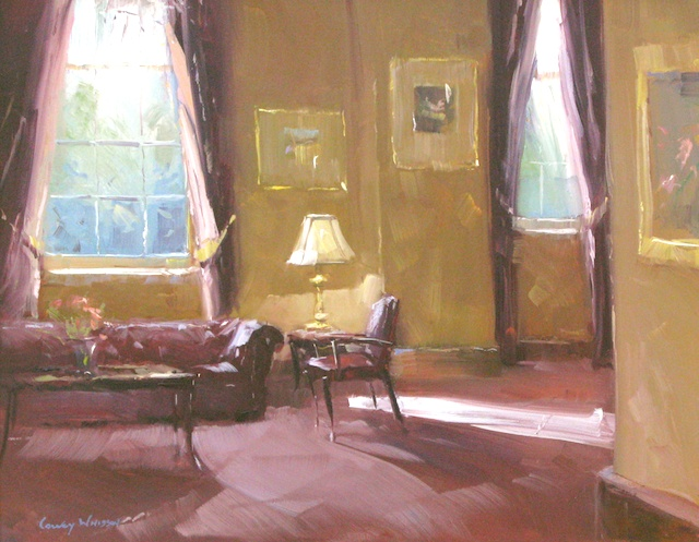 The Formal Lounge • 14x18, oil