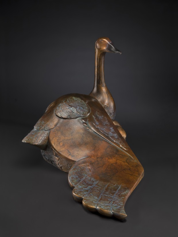"Mother Goose, 19"" H x 32"" L x 20""W. Bronze Limited Edition 6/18"