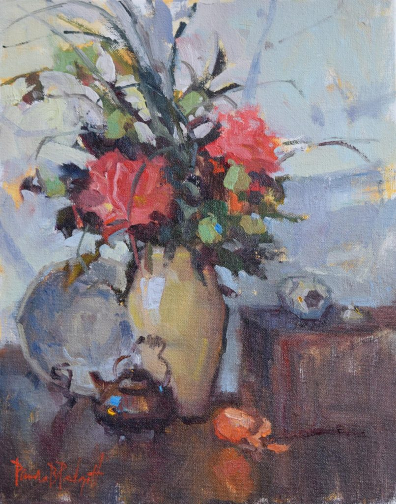 Red Peonies, 14x11