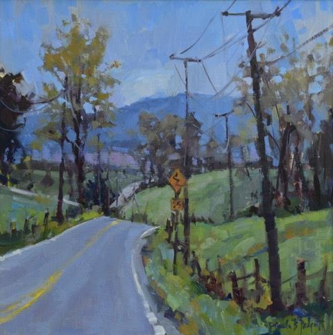 Long and Winding Road, 15x15, oil