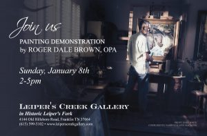 Roger Dale Brown, OPA Painting Demonstration @ Leiper's Creek Gallery | Franklin | Tennessee | United States