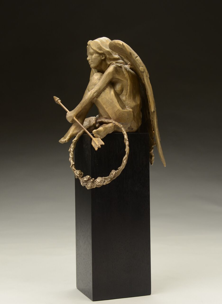"Compassion, 17""x4""x4"", bronze edition of 50"