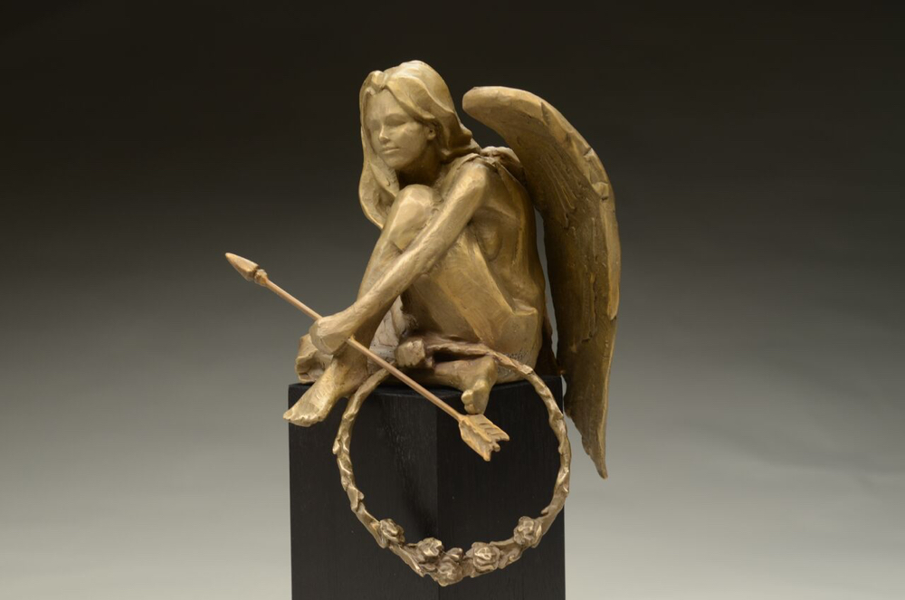 "Compassion, 17""x4""x4"" bronze limited edition of 50"