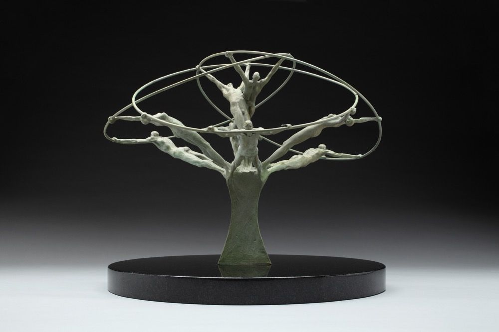 Tree of Life, from the side, Bronze, 14x14x11 1/2, Edition of 12